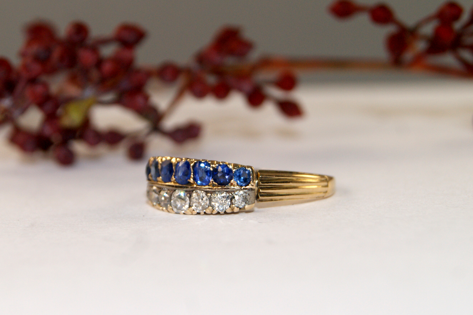 products maniamania ring sapphire whitegold rings blue bluesapphire front midnight gold engagement dark white devotionsolitairering darker solitaire devotion
