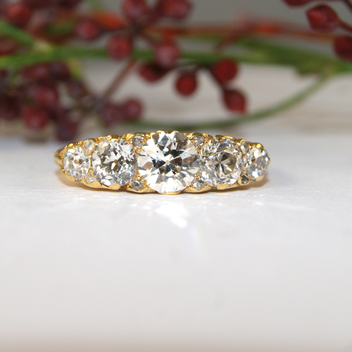 gold stone jewelers s rings products ring white trellis diamond engagement long